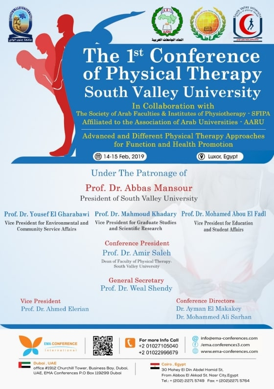 The 1st Conference Of Physical Therapy South Valley University